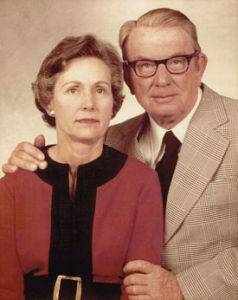 an old photo taken of a couple