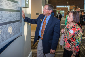 the donor recognition wall