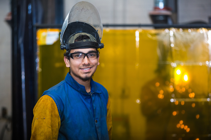 Osiel Aguirre, an Ayden resident, has excelled in PCC's Welding Technology program, having earned Dean's List honors in the fall of 2016 and again in the spring. A VISIONS student, Aguirre has a 3.88 GPA at Pitt.