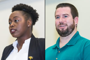 PCC students Caroline Slade and Zach Oeding highlighted this year's PCC Foundation Scholarship Reception by sharing their thoughts on how scholarships have positively impacted their pursuit of a college education.