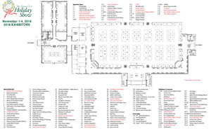 2018 Down East Holiday Show Floor Plan