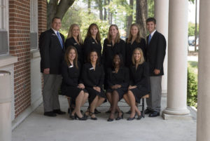 group of students all in black suits from 2006