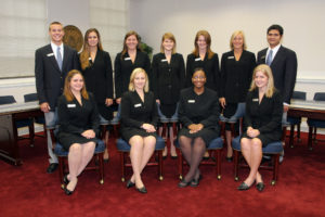 group of students all in black suits 2008