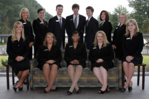 group of students all in black suits 2009