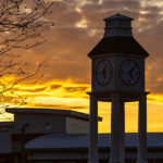 PCC Clock Tower at sunset.