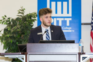 During the PCC Foundation's Scholarship Reception in September, PCC student Geromy Wright talks about what his Student Ambassador Scholarship has meant to him as he seeks a degree in radiography.
