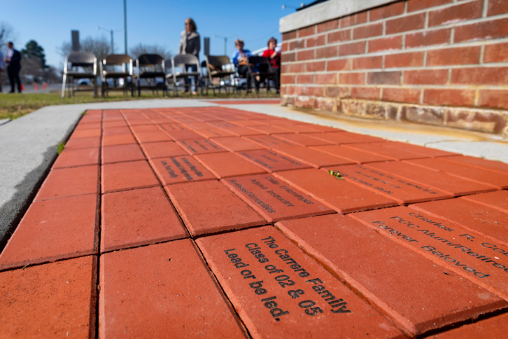The PCC Alumni Association is selling customized bricks that are placed at the base of the Ed and Joan Warren Clock Tower.