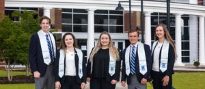 Group photo of five PCC Student Ambassadors who graduated in 2020.