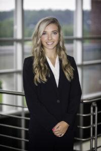 Portrait of Grace Hardee in Student Ambassador uniform.