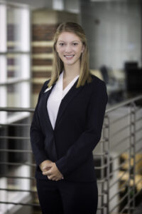 Portrait of Sarah Cook in Student Ambassador uniform.