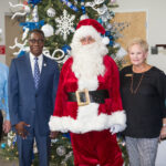 The PCC Foundation added some Christmas cheer to its Holiday Show press conference this month. In addition to Santa Claus (John Bacon), the event featured music by PCC's Michael Stephenson and remarks from President Lawrence Rouse, PCC Foundation Executive Director Beth Sigmon and PCC Events Coordinator Erin Greenleaf, left to right.