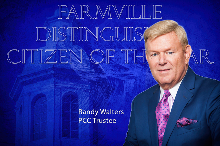 Graphic depicting Randy Walters as Farmville Citizen of the Year