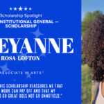 Informational graphic on Associate in Arts student Cheyanne Rosa-Lofton.