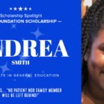 Informational graphic on Associate in General Education student Andrea Smith.