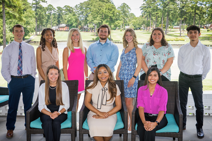 PCC's newest student ambassadors met for the first time June 30. They are: (seated, left to right) Whitley Anderson, Chelsea Moore and Yamileth Espino. (Standing, l-r) Dylan Evans, Krystan Simpson, Grace Hardee, Harriss Evans, Sarah Cooke, Callie Kirby and Kevin Cruz-Torres.