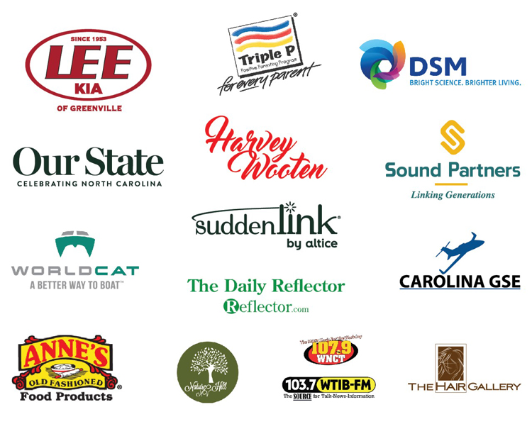 List of 2021 Down East Holiday Show sponsors with logos.