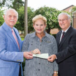 On behalf of the Kiwanis of the Golden K Foundation, Bob Hursey (left) and Ray Jernigan (right) present a $1,000-check to PCC Foundation Executive Director Beth Sigmon in support of the Ricks Automotive Scholarship. Established in memory of former Golden K Kiwanis member Ed Ricks, the scholarship is awarded annually to a second-year PCC Automotive Systems Technology student. Ricks, who once operated a service station in Greenville, is remembered by those who knew him for his dedication to excellent automotive service and commitment to helping young people succeed.
